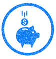 deposit piggy bank rounded grainy icon vector image vector image