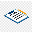 document plan isometric icon vector image