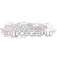 dodgeball word cloud concept vector image