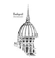 drawing sketch dome hungarian vector image vector image