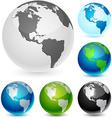 Earth balls - America vector image vector image
