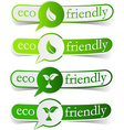 Eco friendly green tags vector image vector image