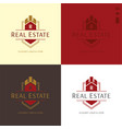 elegant real estate and construction logo and icon vector image vector image