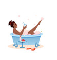 enjoy bath time concept flat vector image