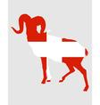Flag of Switzerland with ram vector image vector image
