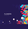 flat flowers background vector image vector image