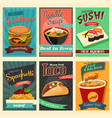 food poster vector image vector image