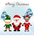 funny postcard with christmas elf christmas vector image vector image
