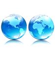 glossy earth map globes vector image