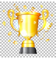golden cup winner vector image vector image