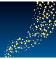 golden star flowing vector image vector image
