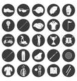 Golf icons design over white background vector image