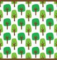 green cartoon trees seamless pattern vector image vector image
