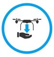 Hand Unload Air Drone Icon vector image vector image