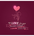 Happy Valentines Day card with growing flower vector image