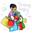 Happy woman with presents vector image