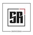 initial letter sr logo template design vector image vector image