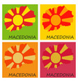 map and flag of macedonia with color background vector image vector image
