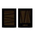 modern design luxury poster bright gold stripes vector image