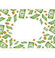 Money frame with pile dollar