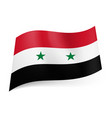 national flag of syria red white and black vector image vector image