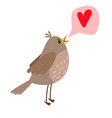 nightingale cute bird icon vector image vector image