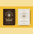 oktoberfest flyers or posters retro typography vector image vector image