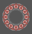 ornamental round lace with damask vector image