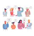 people thinking or making decision flat vector image