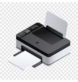 Photo printer icon isometric style