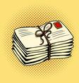 pile letters pop art vector image