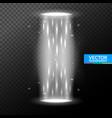 portal light effect hologram magic circle vector image