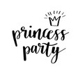 princess party bridal shower card design birthday vector image