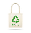 realistic shopping ecobag vector image