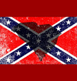 rebel civil war flag with south carolina map vector image vector image