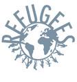 refugee word concept around world vector image