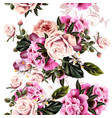 seamless pattern for wallpaper design with peony vector image vector image