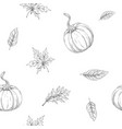 seamless pattern on autumn theme vector image