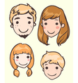 set of head of the family members vector image