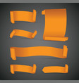 set of orange banners vector image vector image