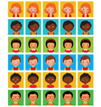 Set of stylized avatars with different facial emot vector image vector image