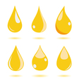 Set of water drops vector image