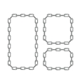 Silver Chain Frames vector image vector image