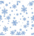snowflake pattern on a white background vector image vector image