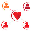 social network of love vector image