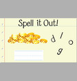 spell english word gold vector image