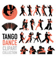 tango dance clipart collection set couples of vector image