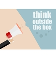 think outside the box Flat design business vector image