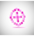Three-dimensional shape  pixel style the plus vector | Price: 1 Credit (USD $1)