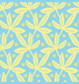 tropical leaves seamless pattern summer vector image vector image